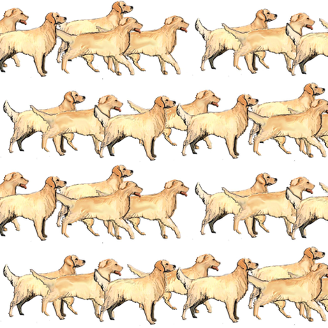 repeating_pattern_golden_retriever fabric by dogdaze_ on Spoonflower - custom fabric