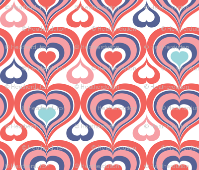 Groovy Kind Of Love - Retro Valentine's Day Hearts Pink