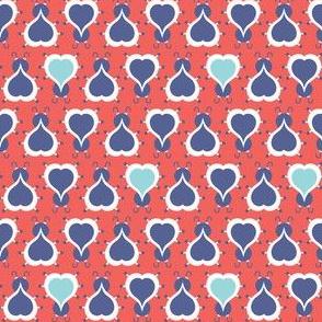 Love Bug - Retro Valentine's Day Ladybugs Red