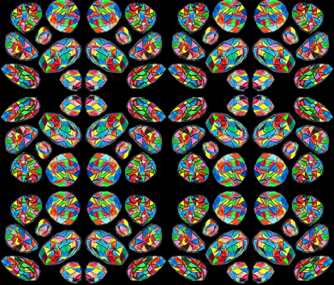 stained_glass_rocks fabric by itsacreations on Spoonflower - custom fabric
