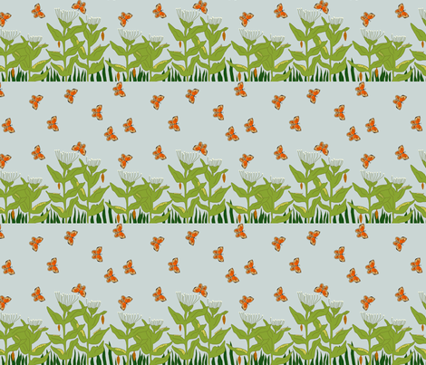 Butterfly Life Cycle _ Small fabric by corinnevail on Spoonflower - custom fabric