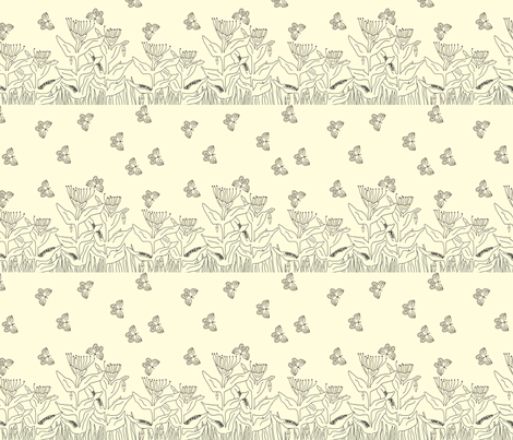 Color Me_ Butterfly Life Cycle _ Small fabric by corinnevail on Spoonflower - custom fabric