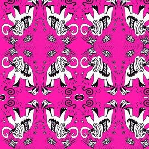 Pink Elephants Half drop -ed