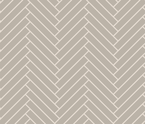 herringbone_greige fabric by ravynka on Spoonflower - custom fabric