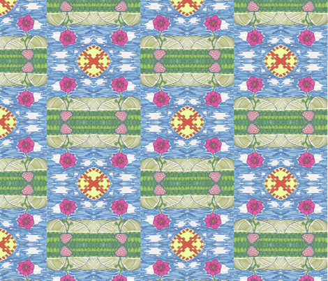 Flower in the field by Gabrielle fabric by studiocherie on Spoonflower - custom fabric