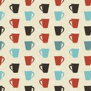 Retro Coffee Cups Pattern