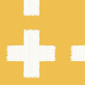 Ikat cross yellow