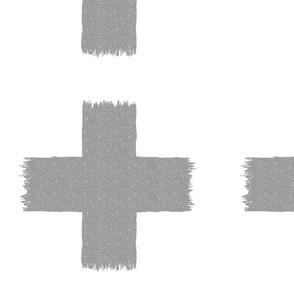 Ikat cross grey