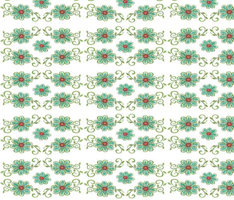 BLUE DAISY fabric by garwooddesigns on Spoonflower - custom fabric