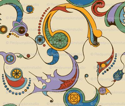 Steampunk Swirls - Coloured