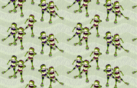 Frogsk8rs 2 for Derbymom fabric by glimmericks on Spoonflower - custom fabric