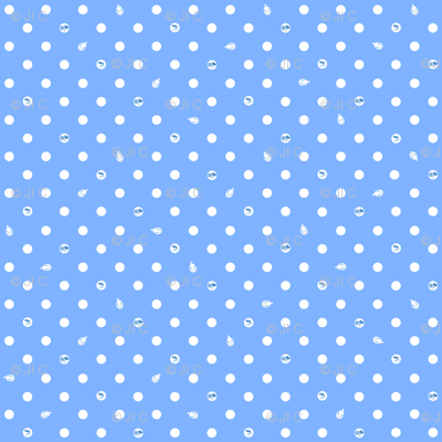 Polka bunnies - Medium Blue