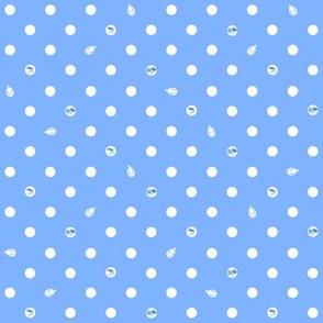 Polka bunnies - Medium Blue