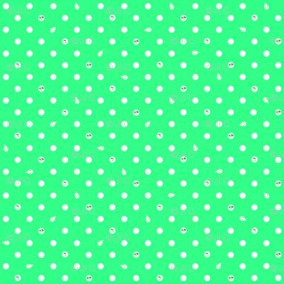 Polka bunnies - Lime Green