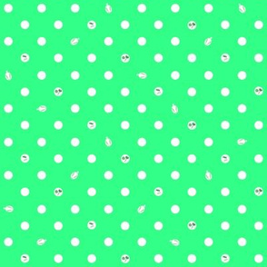 Polka bunnies - Lime Green