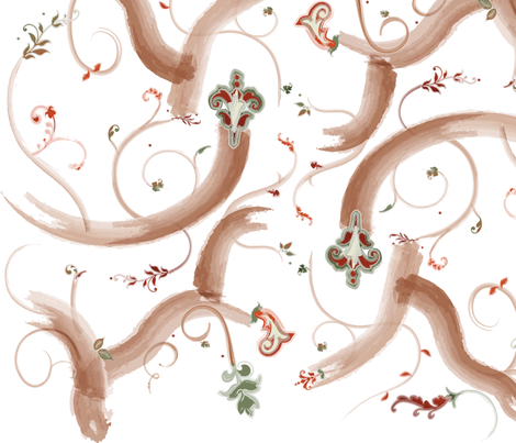 branch flourish fabric by lisa_brown on Spoonflower - custom fabric
