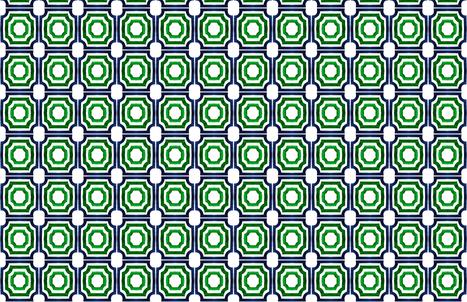 C'EST LA VIV Lattice Shadow BlueEmerald fabric by cest_la_viv on Spoonflower - custom fabric