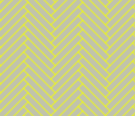 herringbone lemon fabric by ravynka on Spoonflower - custom fabric