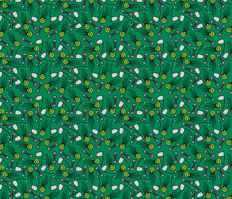 Green Again fabric by totallysevere on Spoonflower - custom fabric