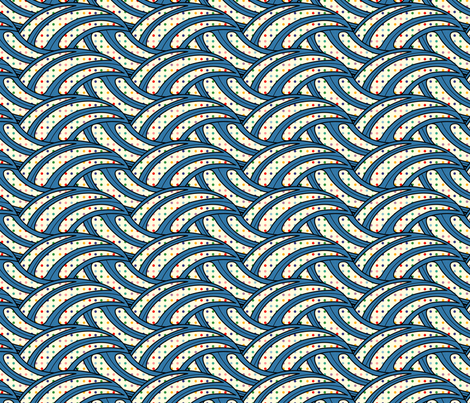 Polka Dot Wave fabric by totallysevere on Spoonflower - custom fabric