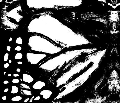 C'EST LA VIV™  monarch black and white fabric by cest_la_viv on Spoonflower - custom fabric