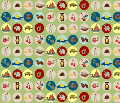 Alphabet icons fabric by krihem on Spoonflower - custom fabric