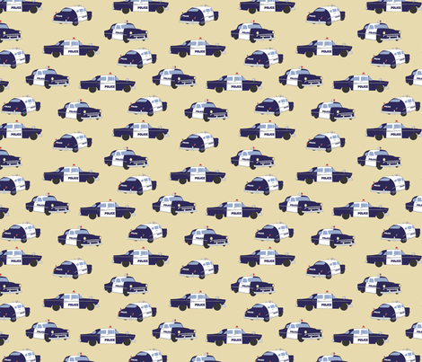 LaraGeorgine_Gotham_Police fabric by larageorgine on Spoonflower - custom fabric