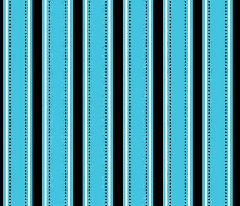 Blue/Black Stripes fabric by writefullysew on Spoonflower - custom fabric