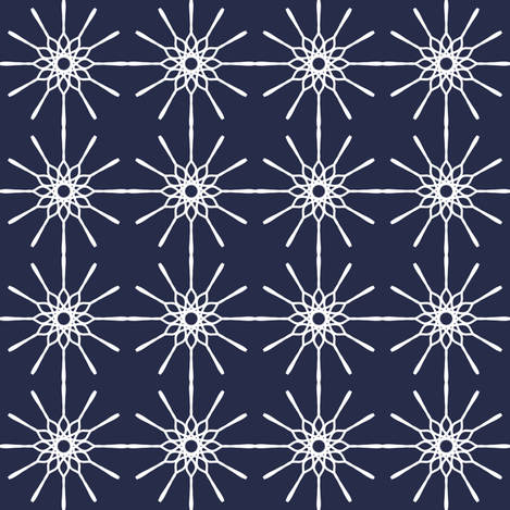Line Art - Midnight Blue fabric by strive on Spoonflower - custom fabric