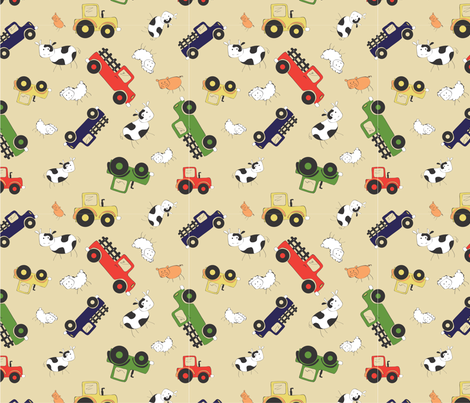 LaraGeorgine_on_the_farm fabric by larageorgine on Spoonflower - custom fabric