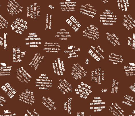 catfab fabric by hannafate on Spoonflower - custom fabric