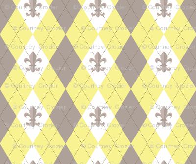 Argyle in Paris Yellow/Taupe