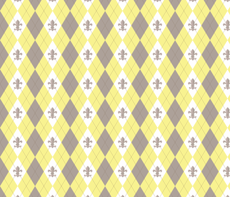 Argyle in Paris Yellow/Taupe fabric by writefullysew on Spoonflower - custom fabric