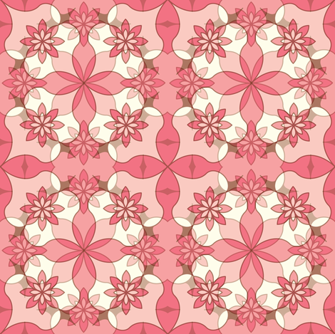 Sweet Garlands - Pink fabric by strive on Spoonflower - custom fabric
