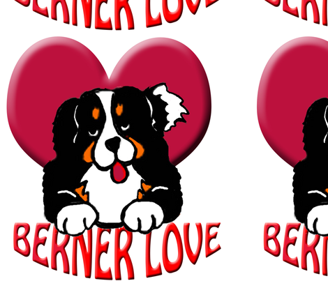 BERNER_LOVE fabric by dogdaze_ on Spoonflower - custom fabric