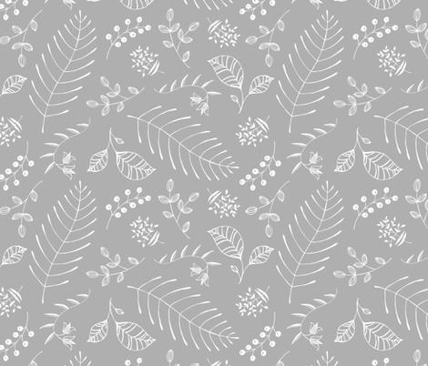 Botanika Gray fabric by pattysloniger on Spoonflower - custom fabric