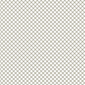 Tiny Rococo Lattice - small white
