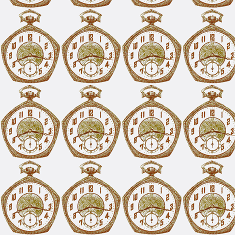 1925 pocket watch fabric by edsel2084 on Spoonflower - custom fabric