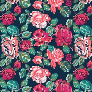 Cross roses