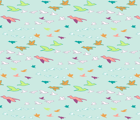 birdsonwing fabric by mrshervi on Spoonflower - custom fabric