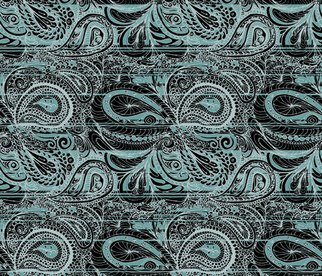 Grey Tiffany Paisley fabric by wiccked on Spoonflower - custom fabric