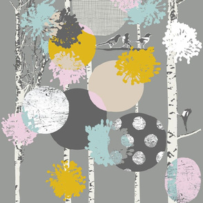 Birch grove pastel
