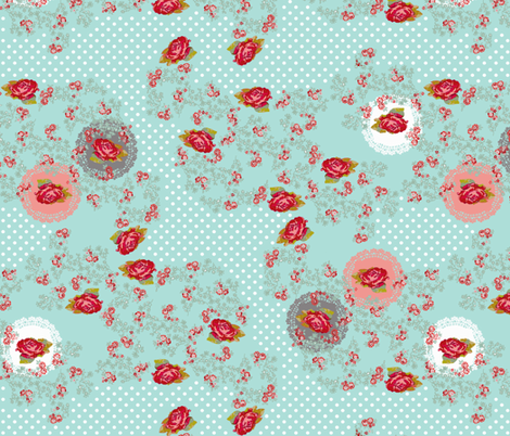 doilies and roses fabric by katarina on Spoonflower - custom fabric