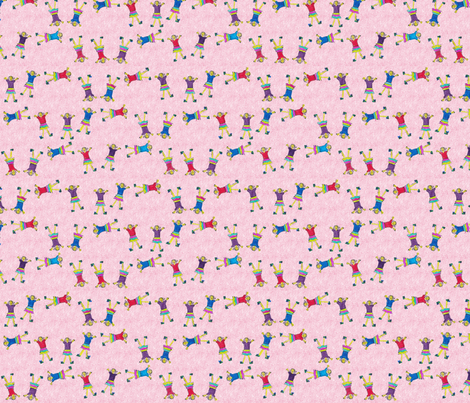 cartwheels by Stephanie, age 10. fabric by scherre on Spoonflower - custom fabric