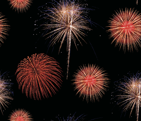 FireWorks fabric by loolu on Spoonflower - custom fabric