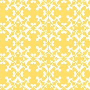 Butter Yellow Damask