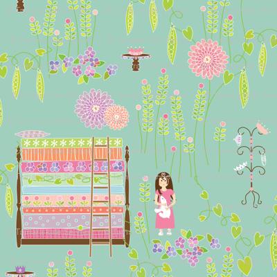Princess & the Pea - aqua