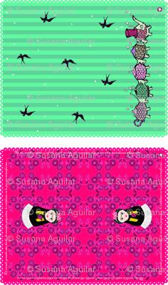 Cateapillar and Fridushka Teatowels
