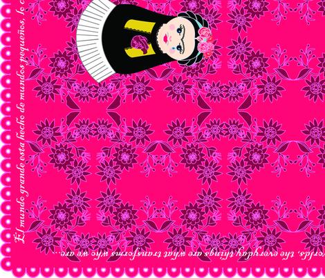 Cateapillar and Fridushka Teatowels fabric by gurumania on Spoonflower - custom fabric