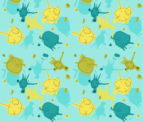 Alfred's Happy People fabric by woodledoo on Spoonflower - custom fabric